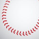 Textura del béisbol Fotografía de archivo libre de regalías