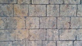 Textura del bloque de cemento en la manera del paseo en el parque Foto de archivo libre de regalías