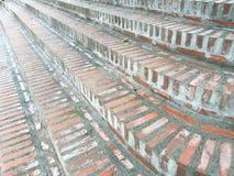 Textura del bloque del ladrillo de la pared, escalera, piso Fotos de archivo libres de regalías