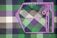 Textura del bolsillo Fotografía de archivo