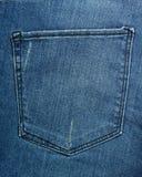 Textura del bolsillo de Jean Imágenes de archivo libres de regalías