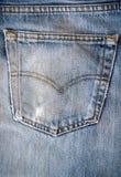 Textura del bolsillo de la mezclilla de la moda del primer Fotografía de archivo
