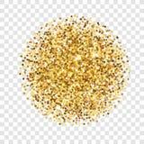 Textura del brillo del oro Sparcle de oro en fondo transparente Partículas ambarinas Contexto de Luxory Foto de archivo libre de regalías