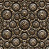 Fondo de cobre amarillo con el ornamento clásico Fotografía de archivo libre de regalías