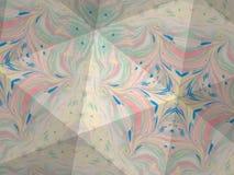 Textura del caleidoscopio del modelo del ebru Fondo de mármol colorido del mosaico Superficie hermosa de las ilustraciones Fotografía de archivo libre de regalías