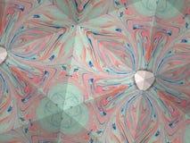 Textura del caleidoscopio del modelo del ebru Fondo de mármol colorido del mosaico Superficie hermosa de las ilustraciones Fotografía de archivo