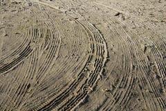 Textura del camino de Sandy Imágenes de archivo libres de regalías
