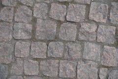 Textura del camino pavimentada con los adoquines Imagen de archivo libre de regalías