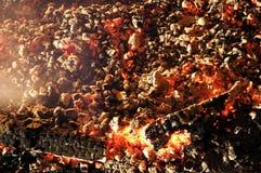 Textura del carbón de leña de la ascua imagen de archivo