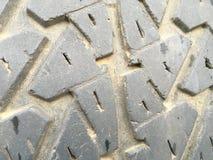 Textura del caucho de la rueda de coche Fotos de archivo libres de regalías