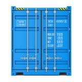 Textura del contenedor para mercancías, vista delantera Imagen de archivo