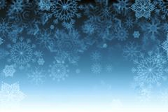 Textura del copo de nieve, fondo del invierno Imagen de archivo