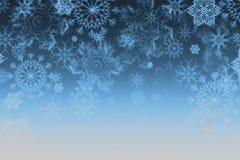 Textura del copo de nieve, fondo del invierno Fotografía de archivo
