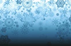 Textura del copo de nieve, fondo del invierno Imagenes de archivo