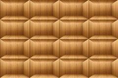 Textura del cuadrado de madera de la teca, papel pintado del bloque del ladrillo Fotografía de archivo libre de regalías