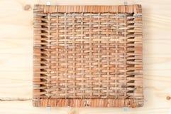 Textura del cuadrado de Wickered Imagen de archivo