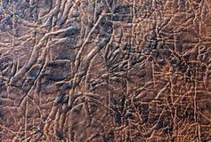 Textura del cuero artificial de Brown Imagen de archivo