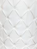 Textura del cuero blanco con los botones Imagenes de archivo