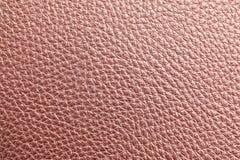 Textura del cuero color de rosa del oro fotos de archivo libres de regalías