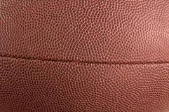 Textura del cuero del fútbol americano Imágenes de archivo libres de regalías