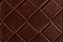 Textura del cuero marrón oscuro Imágenes de archivo libres de regalías
