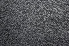 Textura del cuero negro. Fotografía de archivo