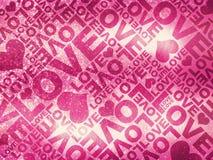 Textura del día de tarjeta del día de San Valentín del brillo del amor Fotos de archivo