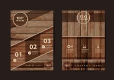 Textura del diseño del aviador del folleto del negocio del vector del fondo de madera Imagen de archivo libre de regalías