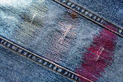 Textura del dril de algodón con la raya imagenes de archivo