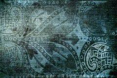 Textura del dril de algodón de la vendimia Imagen de archivo
