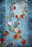 Textura del dril de algodón de la vendimia foto de archivo libre de regalías