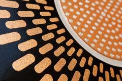 Textura del esmalte y del metal Imagen de archivo libre de regalías