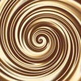 Textura del espiral del cóctel de la leche del chocolate o del café stock de ilustración