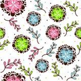 Textura del estampado de flores Fotografía de archivo libre de regalías