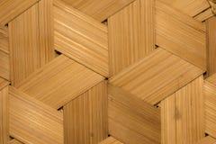 Textura del fondo de bambú de la pared Fotografía de archivo
