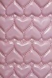 Textura del fondo de cuero rosado Fotografía de archivo libre de regalías