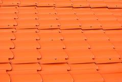 Textura del fondo de Dusty Orange Metal Sheet Roof Fotos de archivo libres de regalías