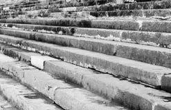 Textura del fondo de la escalera en blanco y negro Fotos de archivo