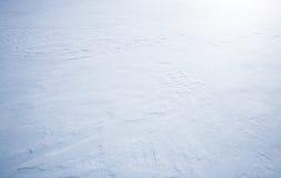 Textura del fondo de la nieve Fotografía de archivo