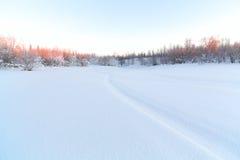 Textura del fondo de la nieve Foto de archivo