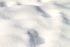 Textura del fondo de la nieve blanca fresca del invierno Imagen de archivo libre de regalías