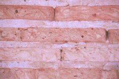Textura del fondo de la pared de ladrillo de la grieta por tono del vintage Imagenes de archivo