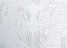 textura del fondo de la placa de circuito 3d - vector Fotos de archivo