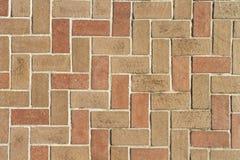Textura del fondo de las pavimentadoras del ladrillo desde arriba Fotografía de archivo libre de regalías