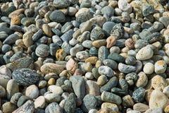 Textura del fondo de las piedras del guijarro Fotografía de archivo libre de regalías