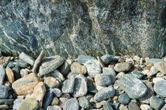 Textura del fondo de las piedras del guijarro Fotos de archivo libres de regalías