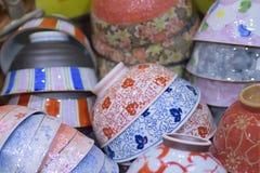 Textura del fondo de los cuencos japoneses de la arcilla foto de archivo libre de regalías