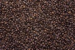 Textura del fondo de los granos de café asados Imagen de archivo