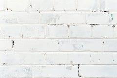 Textura del fondo de una pared de ladrillo blanca vieja Fotos de archivo libres de regalías
