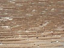 Textura del fondo del arena de mar y de la onda Foto de archivo